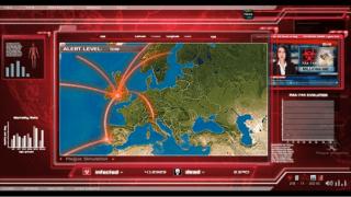 Captura de pantalla del videojuego Plague Inc.