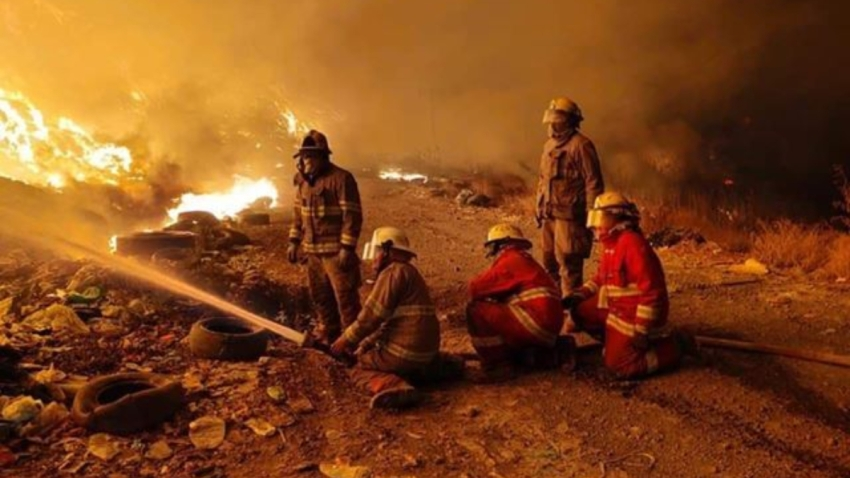 Bomberos de Uruapan sofocan un incendio