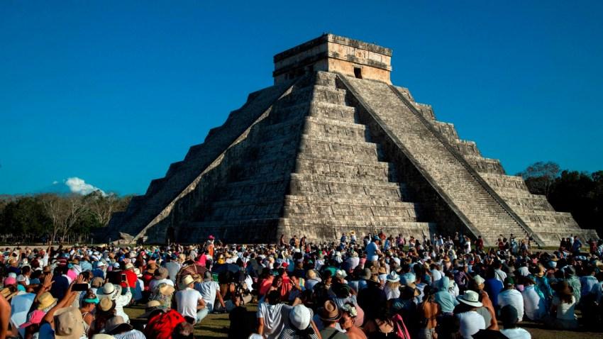 Zona arqueológica en Chichen-Itzá