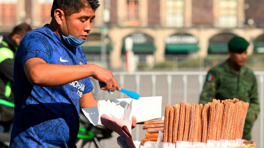 Vendedor de churros en CDMX