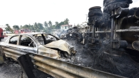 Explosión de camión cisterna deja cuatro muertos en el sureste de México