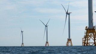 Parque eólico marino Deepwater Wind en Block Island en 2016