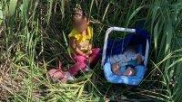 Abandonan a orillas del Río Grande a niña de 2 años y bebé de 3 meses