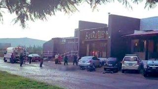 Sitio donde explotó un regalo bomba en Guanajuato