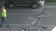 Sorprendente: ola de calor causa daños en una autopista