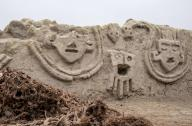 Descubren muro de 3,800 años con fantasmales cabezas