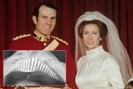 Tiara de flecos rusos - Princesa Anne y Mark Phillips