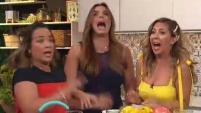 """""""No me hagan eso"""", dijo la boricua tras asustarse en medio de un segmento. Para más historias de Telemundo, visita now.telemundo.com."""