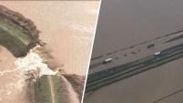 Una concurrida carretera en el Condado Colusa debió ser cerrada por más de 5 horas por las aguas.