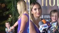 La hija menor de la actriz y Gabriel Soto hizo todo tipo de travesuras para dejar claro que no quiere compartir a su mamá con la prensa.