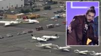 Habría estado el rapero Post Malone entre los pasajeros.