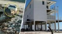 Una vivienda construida para soportar huracanes fue la única que quedó intacta tras el paso del poderoso huracán Michael por el noroeste de...