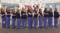 Son 11 y trabajan en la sala de partos de un hodpital en Miami; esperan a sus bebés con meses de diferencia.
