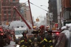 Fotos: colapso de grúa causa un muerto y varios heridos