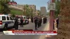 Video: Arrestan a manifestantes tras bloqueo de Acción Ejecutiva