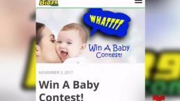 Sortear un bebé, el concurso de una radio para Acción de Gracias