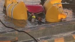 Dos residentes de Texas mueren tras intentar alocada maniobra en puente