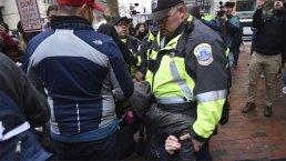 Violencia y protestas opacan primer día del presidente Trump