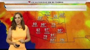 Condiciones despejadas durante el fin de semana con humedad propiciando lluvias aisladas y tormentas en algunas porciones de Arizona debido al flujo de humedad por el paso de Lorena