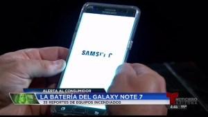 Incendio de batería: Samsung Galaxy Note 7