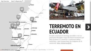 Mapa interactivo: devastación tras el terremoto en Ecuador