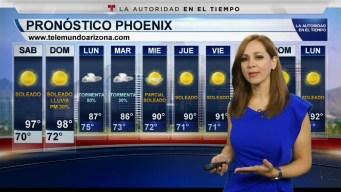Condiciones despejadas durante el fin de semana del 21 y 22 de Septiembre en Phoenix