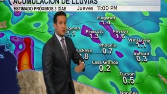 Lluvias y riesgo de inundaciones en el pronóstico del tiempo