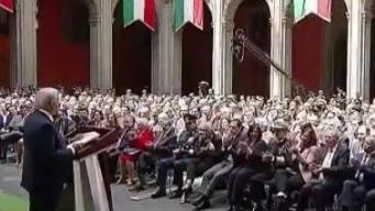 AMLO ofrece su primer informe de Gobierno en México