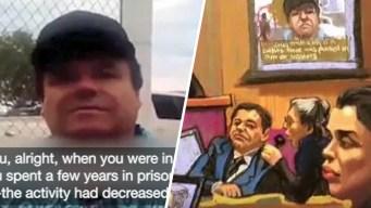 """Muestran videos de """"El Chapo"""" durante juicio en su contra"""