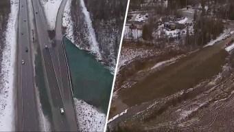 Desde el aire: Alaska a una semana del terremoto