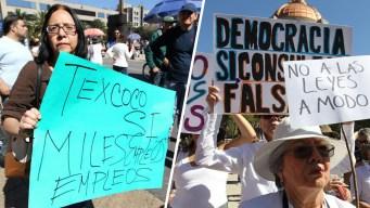 Protestan contra López Obrador en 1er día de gobierno