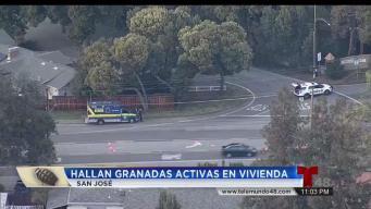 Hallan 5 granadas en el sótano de vivienda en San José