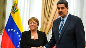 "Maduro exige a Bachelet que rectifique sus ""mentiras"""
