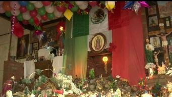 Peregrinos honran a la Virgen de Guadalupe