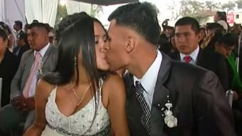 """Unas 100 parejas se dan el """"sí"""" en boda masiva"""