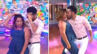 Adamari perrea y se besa en la boca con el actor Fabián Ríos