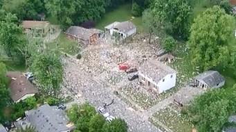 En imágenes: mortal explosión pulveriza una vivienda
