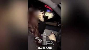 Buscan a estudiante que se grabó bebiendo mientras conducía