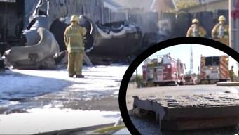"""""""Como un tornado de 10 pies"""": explosión en Los Ángeles"""