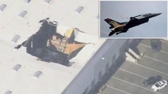 Avión de combate se estrella en base militar de California