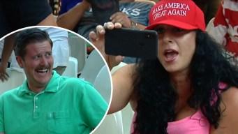 Viral: héroe en redes tras reírse de simpatizantes de Trump