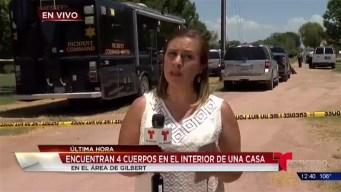 Video: Investigan hallazgo de cuerpos en vivienda  de Gilbert
