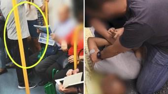 Video: lo pillan grabando bajo las faldas en el metro