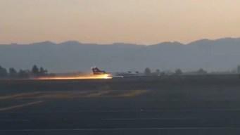 Ambulancia aérea aterriza de emergencia