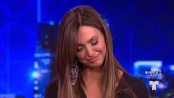 Erika Csiszer llora al recordar a su padre