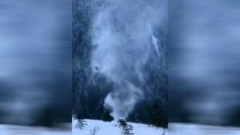 Extraño fenómeno natural en video: tornado de nieve