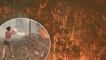 """""""Era como el apocalipsis"""": residentes ayudan a combatir incendios en Australia"""