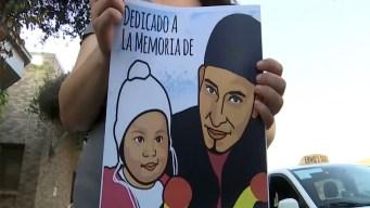 Recuerdan a padre e hija que murieron en la frontera