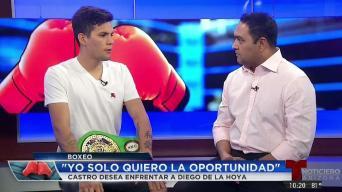Carlos Castro lanza reto a Diego De La Hoya