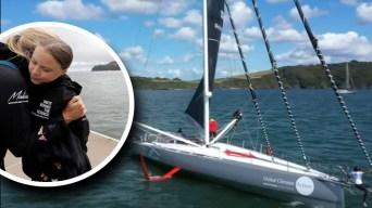 En velero, niña va de Europa a NYC para no dañar al planeta